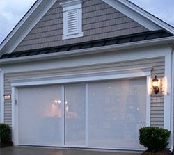 White Privacy Screen for Garage Door