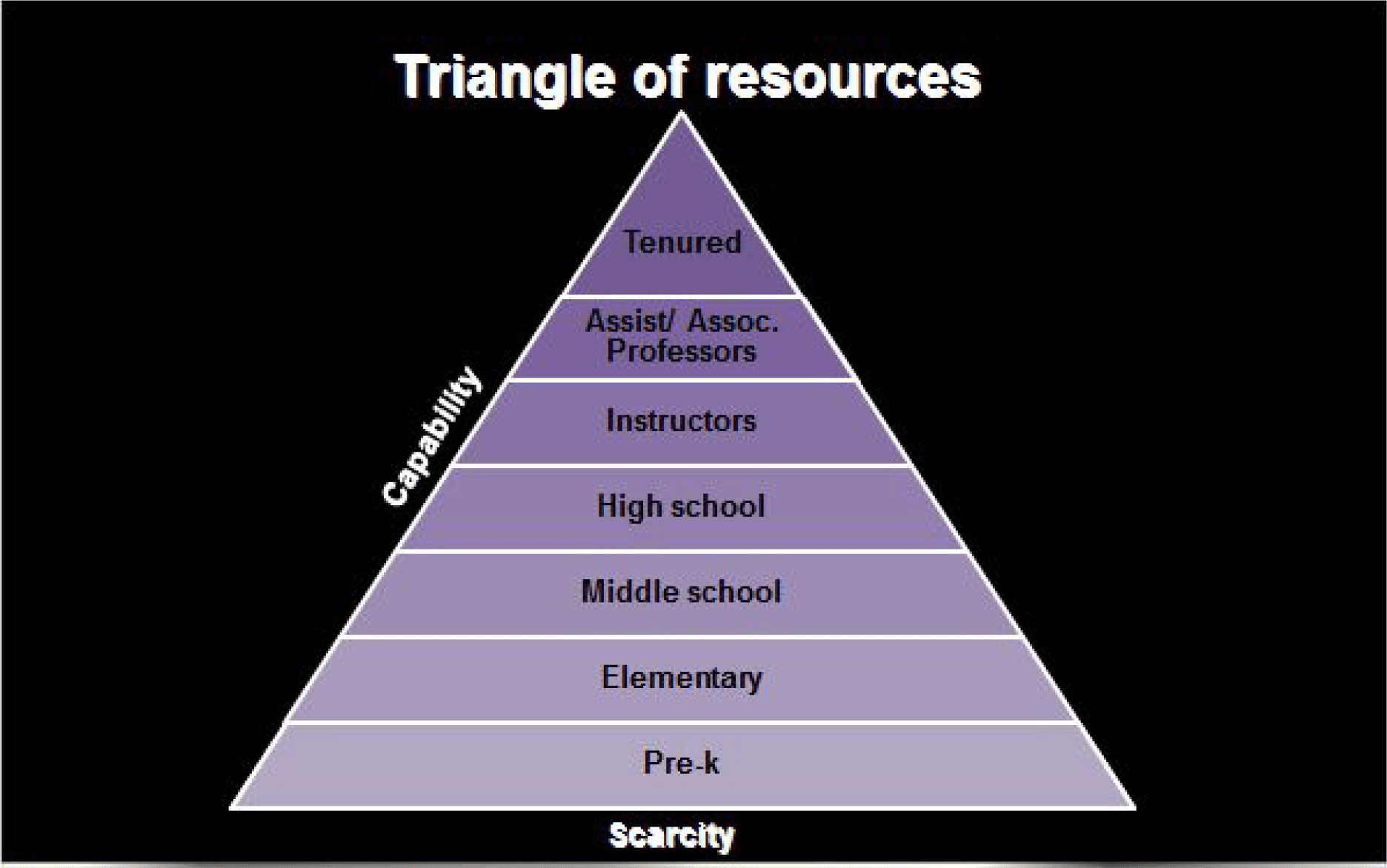 Florida Polytechnic University's Triangle of Resources Diagram