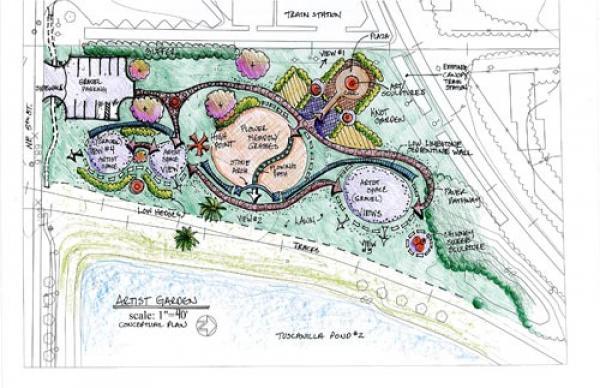 Artist Garden Concept Plan