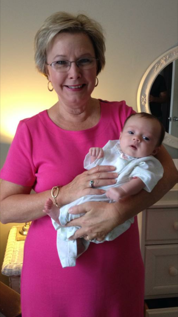 Rev. June with granddaughter Ellie