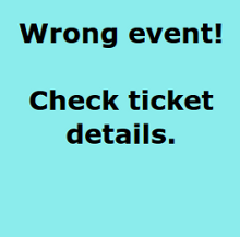 Scan result: Wrong event message