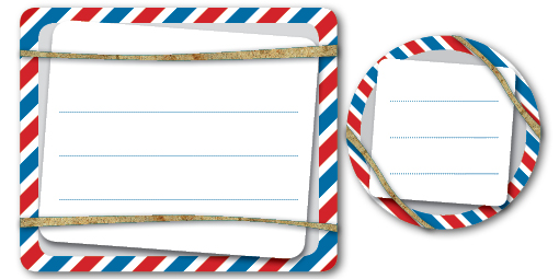 Printable Labels: Airmail Style Shipping Labels