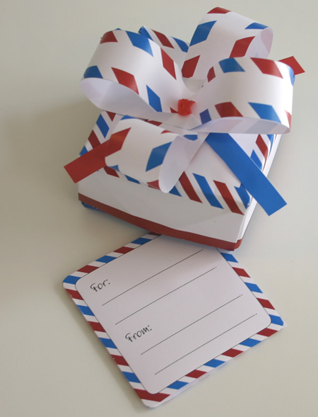 Origami Box: Air Mail Style