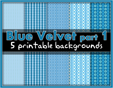 Printable Backgrounds: Blue Velvet.