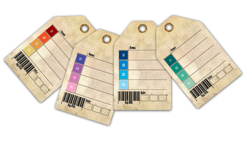 Printable Tags: Colors Palette