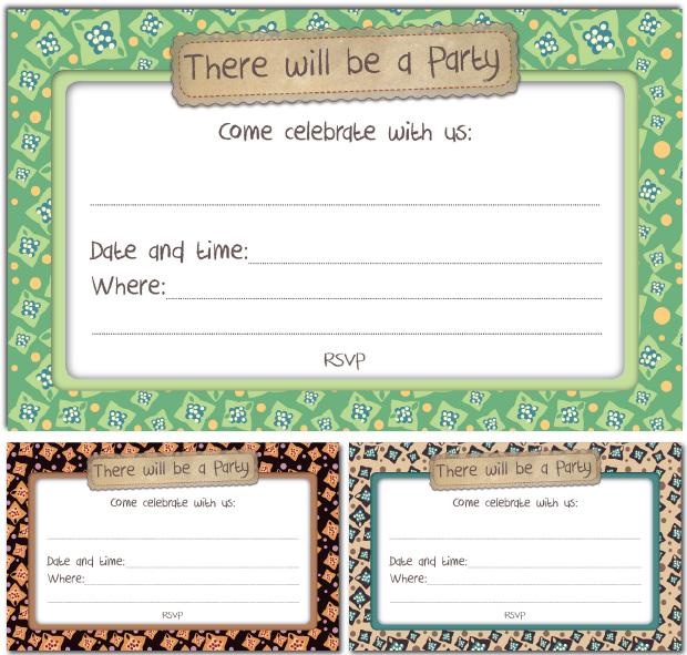 Invitation Cards: Spring Set