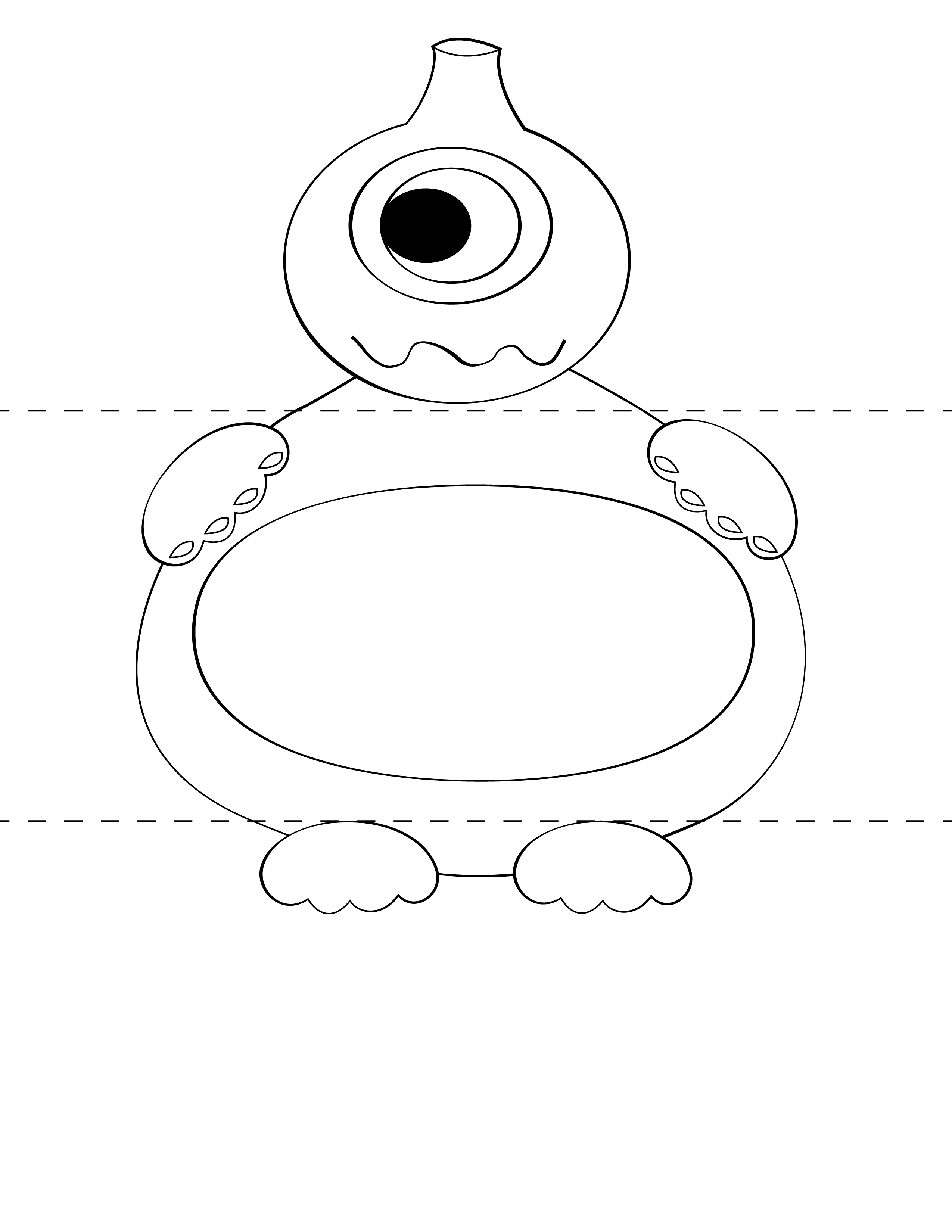 Free kids craft template make your own monsters print for Templat monster