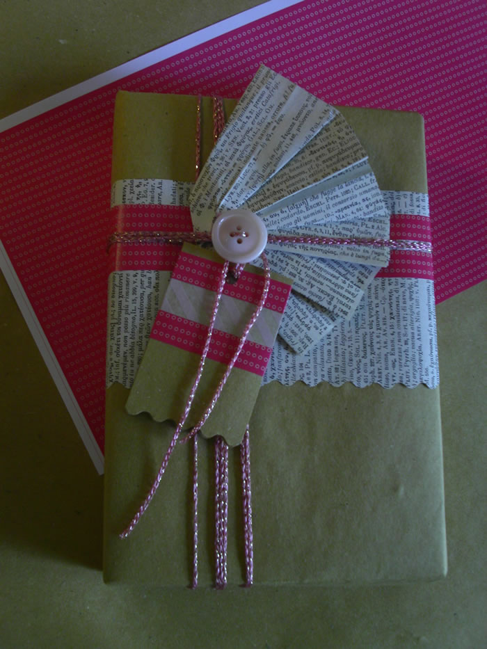Printable paper to wrap a gift or recycle an old box