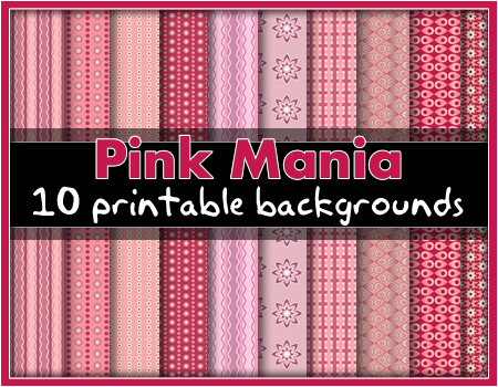 Printable Backgrounds: Pink Mania!