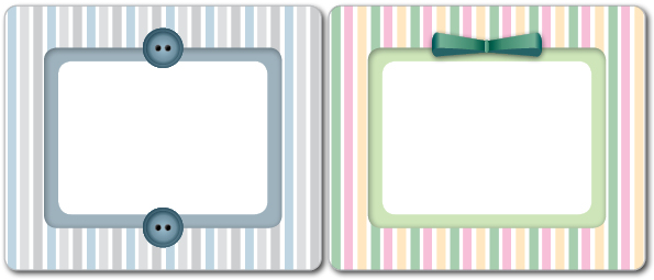 Printable Labels: Elegant Stripes Pattern