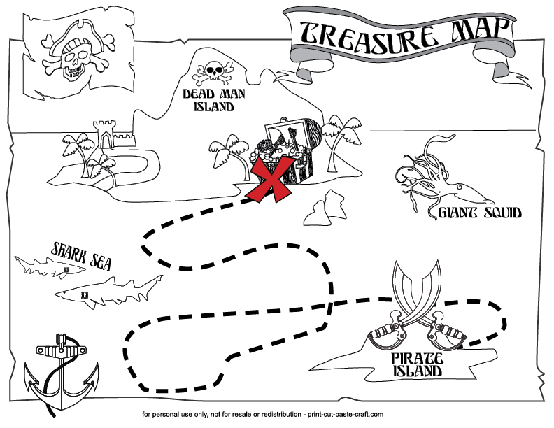Printable Treasure Map