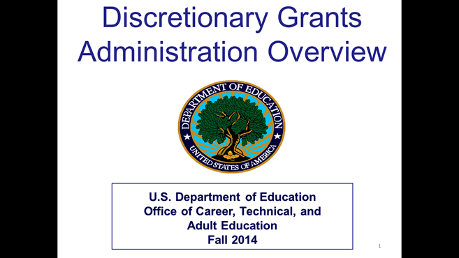 Discretionary Grants Administration