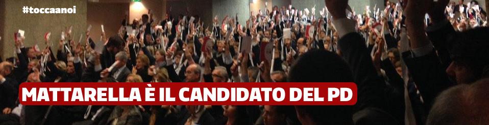 Mattarella candidato