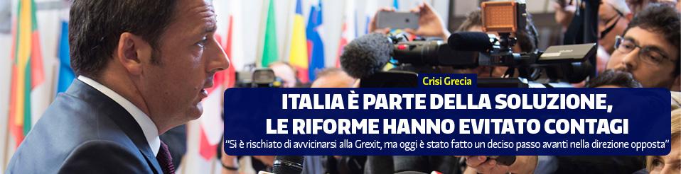 Renzi su crisi Grexit