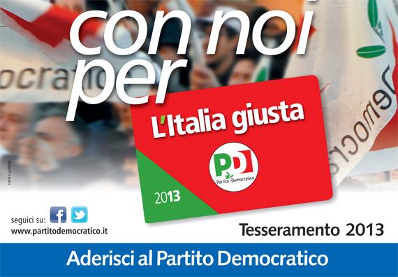 Tesseramento Partito democratico 2013