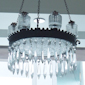 Whale oil chandelier