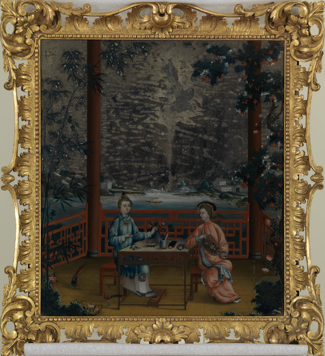 Portrait of Mrs. and Miss Revell in a Chinese Interior, ca. 1780