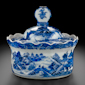 Covered butter dish (after English cut glass)