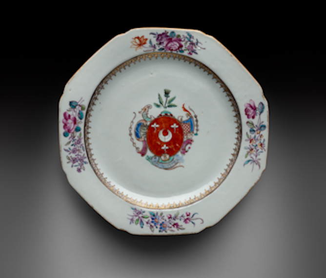 Plate with the arms of Dobree