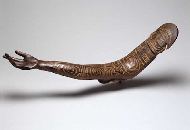 Carved arm