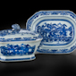 Tureen, cover, and stand