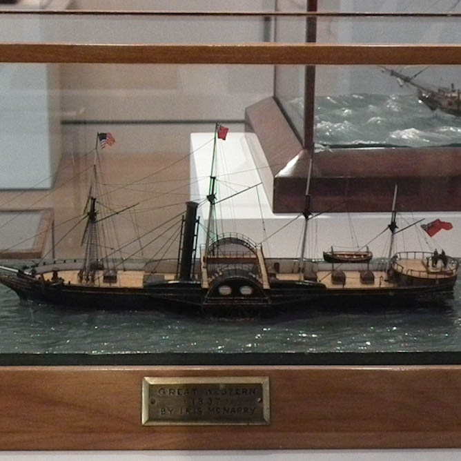 Model of the 1838 Steamer Great Western