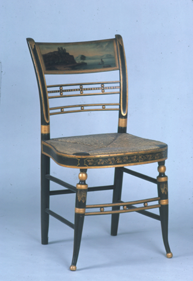 Painted side chairs