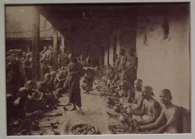 Brahmin priests at a banquet