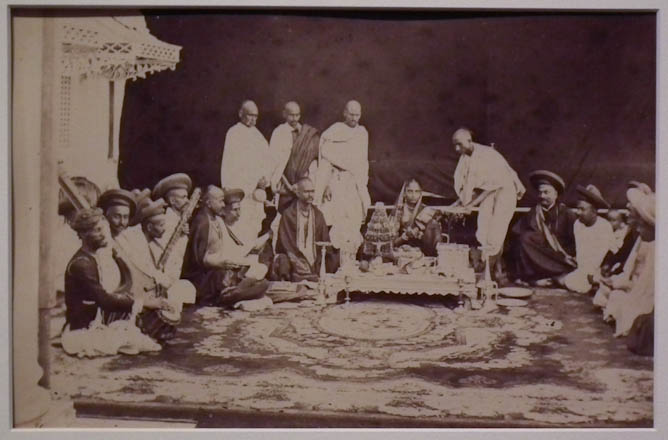 Hindu ceremony for seated woman