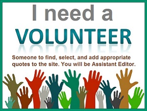 volunteer help wanted