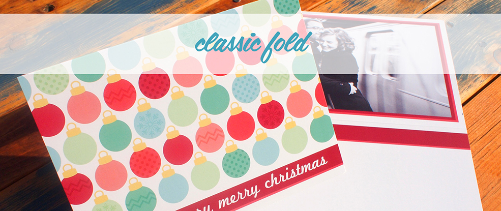 Classic Style Folded Greeting Cards (Press)