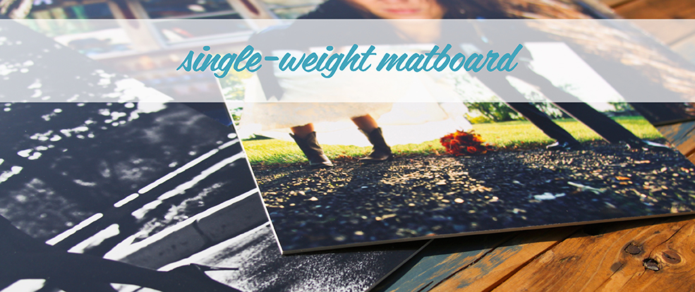Single weight matboard