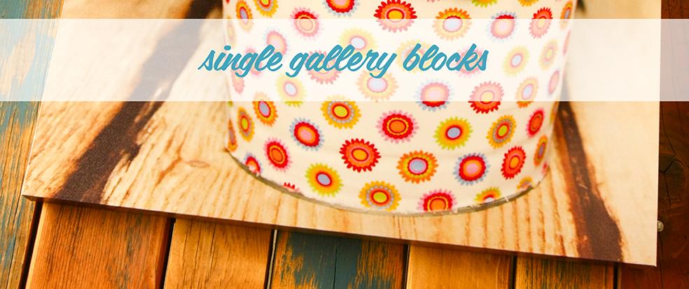 Single Gallery Blocks