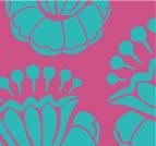 PINK & TEAL FLOWERS