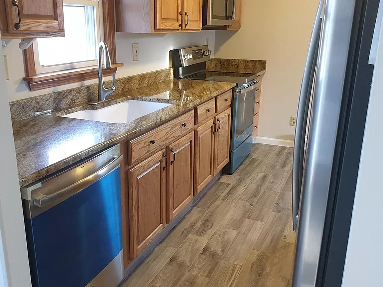 Remodeled, lovely unit of two-family house, 1st floor apartment.
