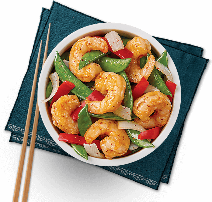 Bowl of Pacific Chili Shrimp