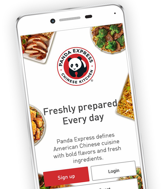 Panda Express app homescreen