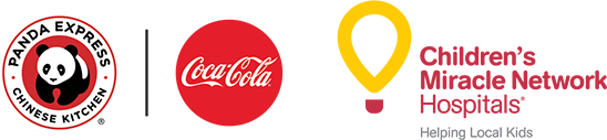 Panda Express, Coca-Cola and Children's Miracle Network Hospital logos