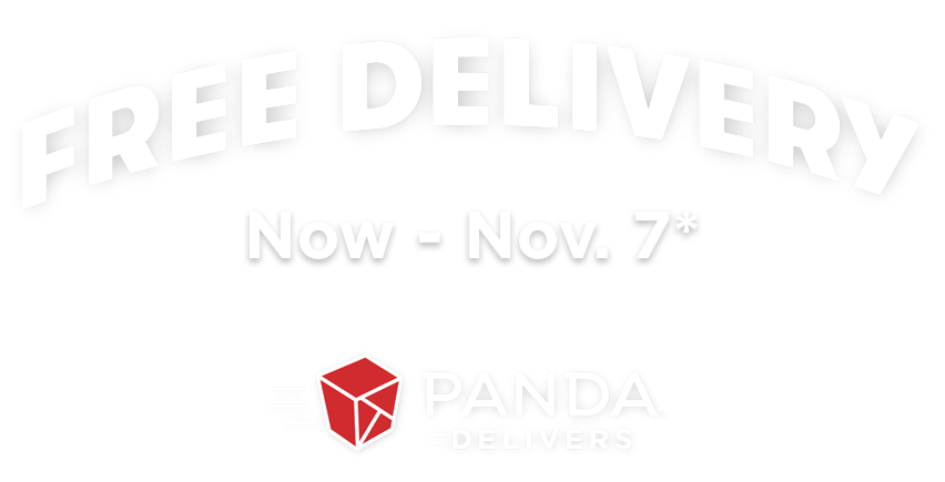Free delivery with Panda Delivers Now through November 7