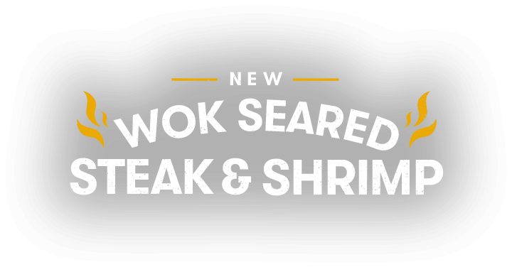 Wok seared steak and shrimp