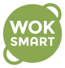 Light green wok shaped logo