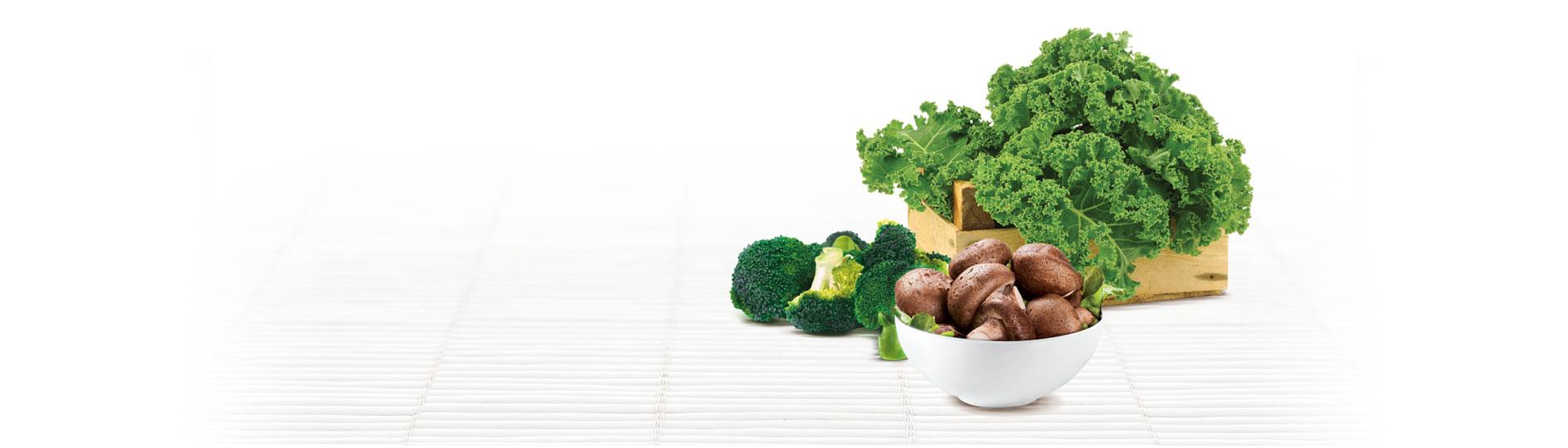 Kale, Broccoli, and Shiitake