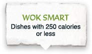 Dishes with 250 calories or less