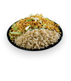 Chow Mein / Brown Steamed Rice