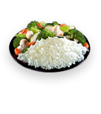 White Steamed Rice / Mixed Veggies