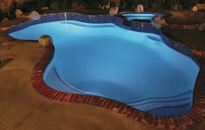 After Pool Lighting by Pool-Doctors in Pool Cleaning Orange County, Ca