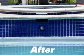 After Tile Repair by Pool-Doctors Pool Cleaning in Orange County, Ca