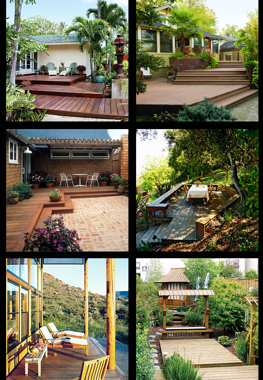 Pictures Of Sundecks Stairs And Benches: 6 Pictures Of Wooden Backyard Deck Design Ideas