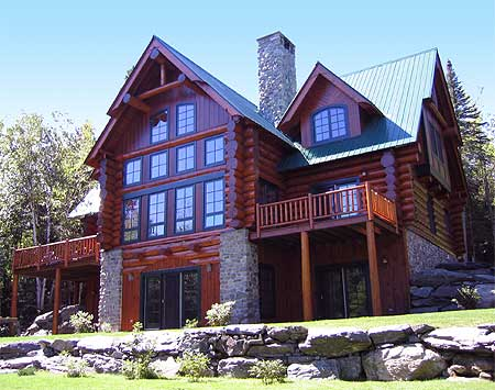 Front view of mountain home
