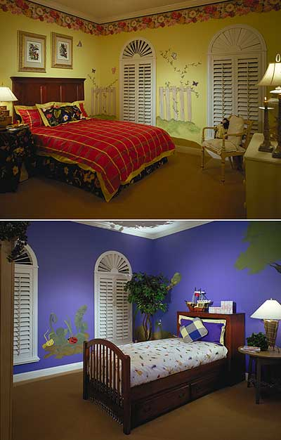 Kid's bedrooms each with unique and fun design